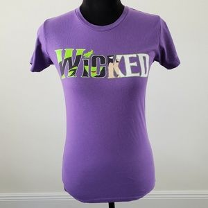3/$20 Wicked Musical Broadway Purple Graphic Tee